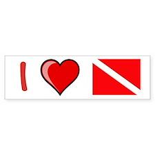 I Love Diving Bumper Bumper Sticker