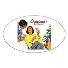Xmas Oval Decal