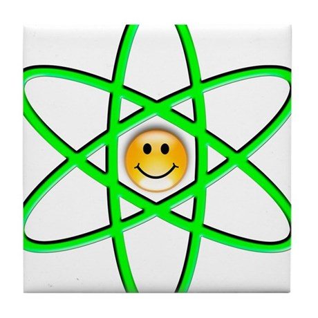 Nuclear Smiley Tile Coaster