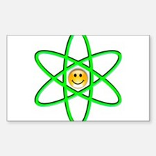 Nuclear Smiley Rectangle Decal