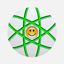Nuclear Smiley Ornament (Round)