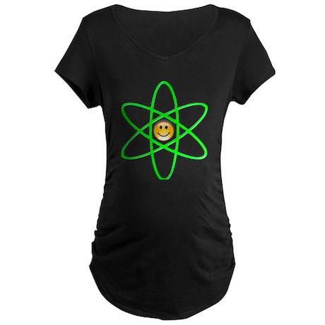 Nuclear Smiley Maternity Dark T-Shirt