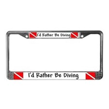 Rather Be Diving License Plate Frame