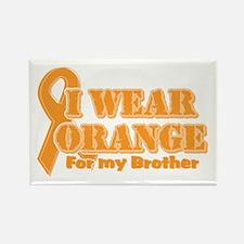 I wear orange brother Rectangle Magnet (100 pack)