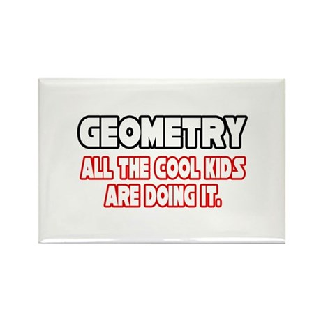 """Geometry...Cool Kids"" Rectangle Magnet (100 pack)"