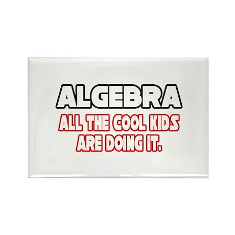 """Algebra...Cool Kids"" Rectangle Magnet (100 pack)"