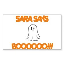 Sara Says Boo Rectangle Decal