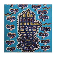 Hand of Fatima Tile Coaster