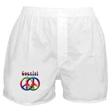 Coexist Peace Sign Boxer Shorts