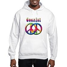 Coexist Peace Sign Hoodie