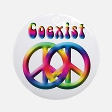 Coexist Peace Sign Ornament (Round)