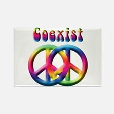 Coexist Peace Sign Rectangle Magnet (10 pack)