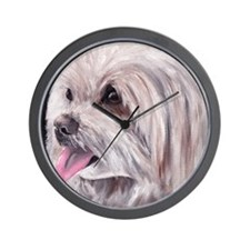 Maltese Terrier Dog Wall Clock