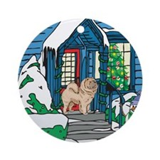 Welcome Chow Chow Ornament (Round)
