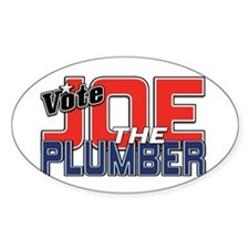 Vote JOE THE PLUMBER! Oval Decal