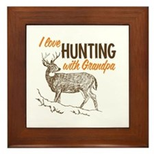 Hunting with Grandpa Framed Tile