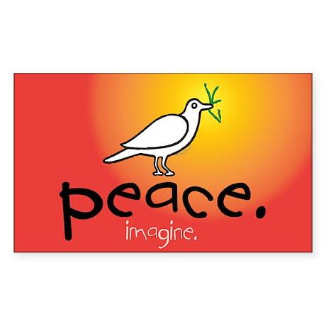 Peace... Rectangle Sticker