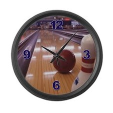 Bowling Large Wall Clock
