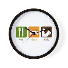 Horseback Riding Wall Clock