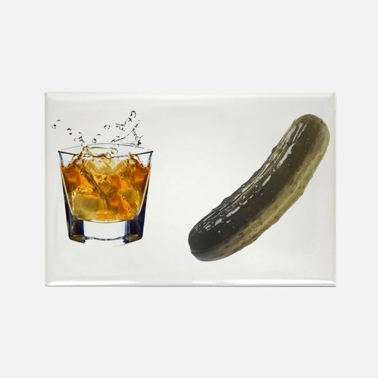 whiskey pickle Rectangle Magnet