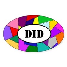 Oval sticker: DID