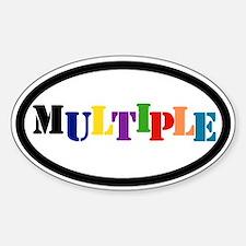 Oval sticker: Multiple