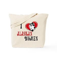 I Love Alaskan Women Tote Bag