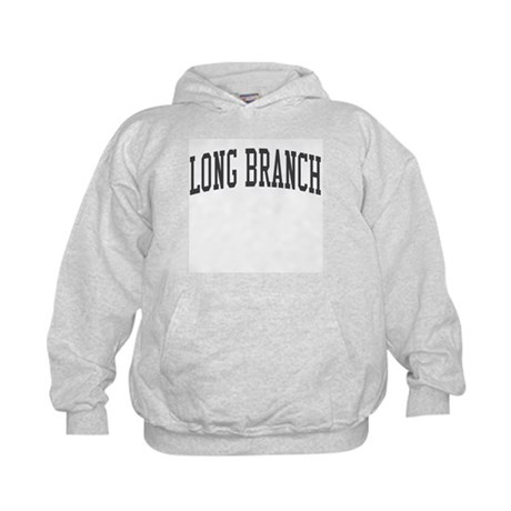 Long Branch New Jersey NJ Black Kids Hoodie