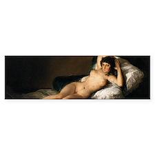 Goya's Nude Maja Bumper Bumper Sticker