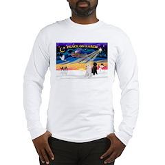 XmasSunrise/2 Std Poodles Long Sleeve T-Shirt