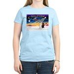 XmasSunrise/2 Std Poodles Women's Light T-Shirt