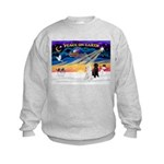 XmasSunrise/2 Std Poodles Kids Sweatshirt