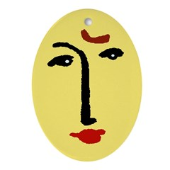 Homage To Matisse Oval Ornament