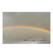 8 postcards with a rainbow