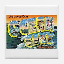 Ocean City New Jersey NJ Tile Coaster