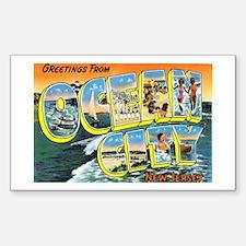 Ocean City New Jersey NJ Rectangle Decal