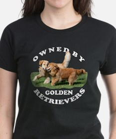 Owned by Golden Retrievers Wmn's T-shirt