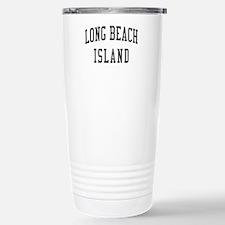 Long Beach Island New Jersey NJ Black Travel Mug