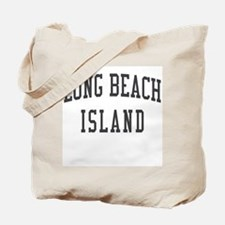 Long Beach Island New Jersey NJ Black Tote Bag