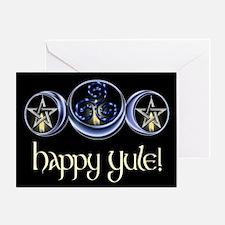 Triple Spiral Lunar Moon Greeting Card