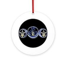 Triple Spiral Lunar Moon Ornament (Round)