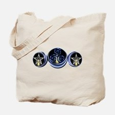 Triple Spiral Lunar Moon Tote Bag