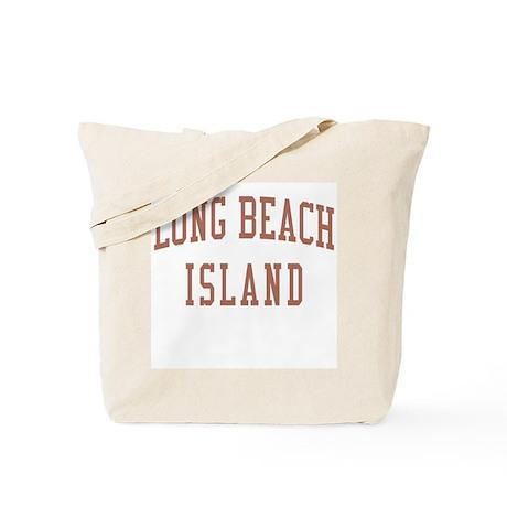 Long Beach Island New Jersey NJ Red Tote Bag