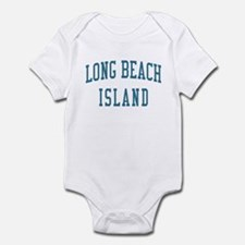 Long Beach Island New Jersey NJ Blue Infant Bodysu