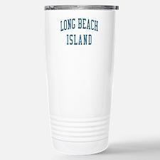 Long Beach Island New Jersey NJ Blue Travel Mug