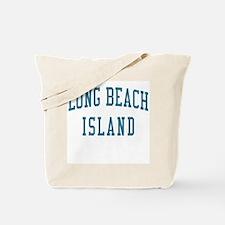 Long Beach Island New Jersey NJ Blue Tote Bag