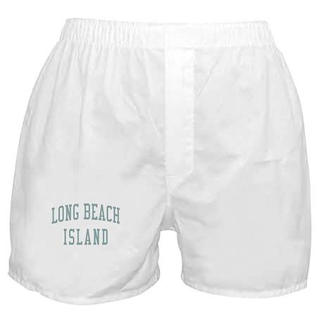 Long Beach Island New Jersey NJ Green Boxer Shorts