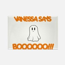 Vanessa Says Boo Rectangle Magnet