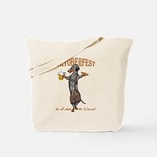 Dapple Oktoberfest Weiner Dog Tote Bag