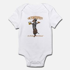 Dapple Oktoberfest Weiner Dog Infant Bodysuit